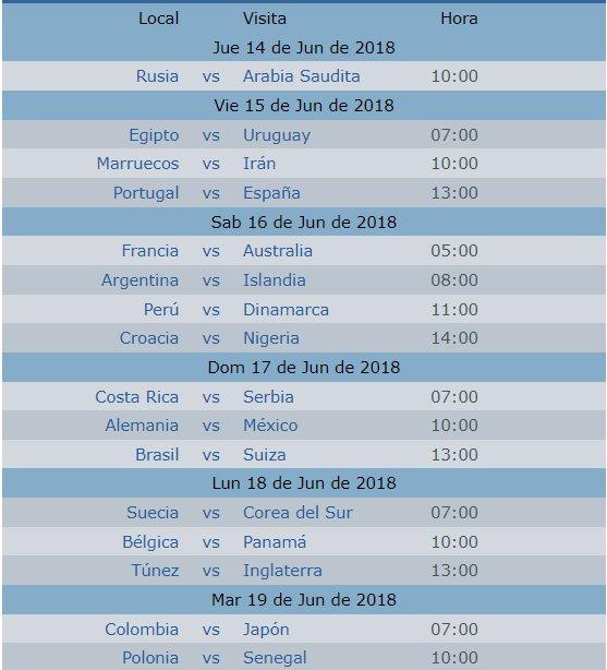 Calendario Mundial Futbol.Calendario Mundial Rusia 2018 Seleccion Mexicana Vivoelfutbol